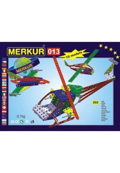 Stavebnice MERKUR 013 Vrtulník 10 modelů 222ks v krabici 26x18x5cm