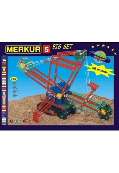 Stavebnice MERKUR 5 80 modelů 767ks v krabici 36x27x8cm