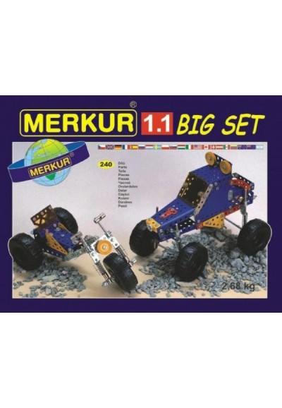 Stavebnice MERKUR 1.1 10 modelů 240ks v krabici 36x26,5x5,5cm