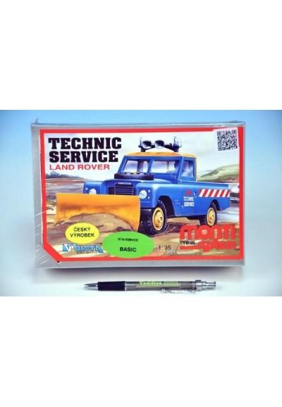 Stavebnice Monti 01 Technic service Land rover 1:35 v krabici 22x15x6cm