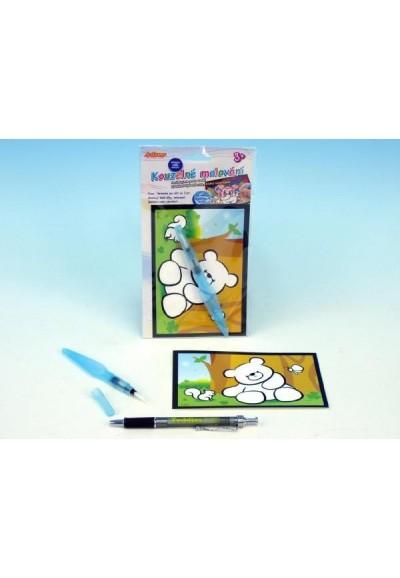 Kouzelné malování vodou asst 6 druhů na kartě 11x21cm 36ks v boxu