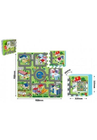 Pěnové puzzle Město 32x32cm 9ks v sáčku 10m+