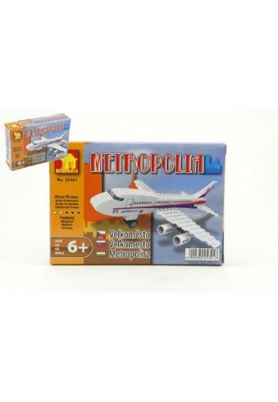 Stavebnice Dromader Letadlo 25301 78ks v krabici 18,5x13x4,5cm