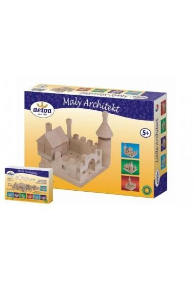 Stavebnice Malý Architekt kostky dřevo 120ks v krabici 29x20x6cm