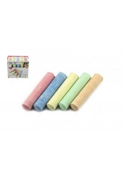 Křídy barevné chodníkové 10,5x2,5x2,2cm 15ks v krabičce 24m+