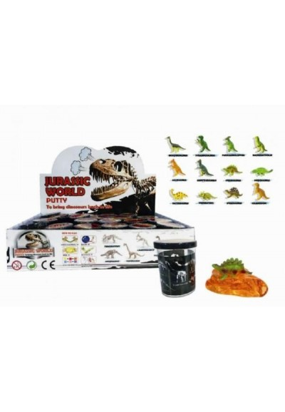 Sliz - hmota 80g Dinosaurus 6cm asst 24ks v boxu