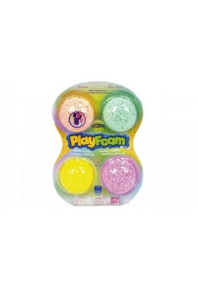 PlayFoam Modelína/Plastelína kuličková 4 barvy na kartě 19,5x27x3cm