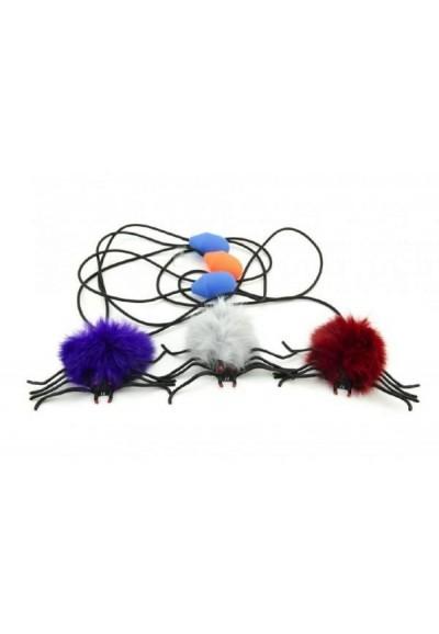 Pavouk skákající plyš/plast 7cm asst 10ks v sáčku