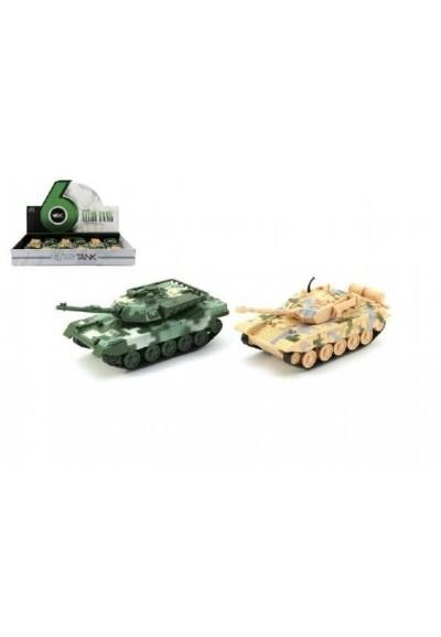 Tank plast/kov PB 16cm asst 2 barvy na zpětné natažení 12ks v boxu