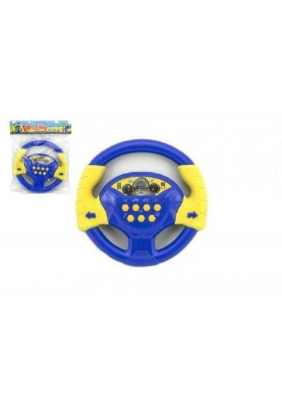 Volant modrý plast 20cm na baterie se zvukem v sáčku český design