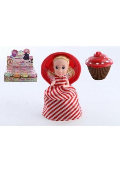 Panenka/Cupcake plast 15cm vonící asst 12 druhů v krabičce 12ks v boxu 4. série