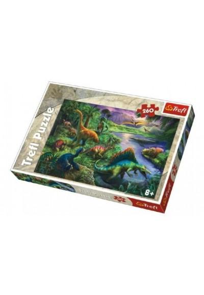 Puzzle Dinosauři 260 dílků 60x40cm v krabici 40x27x4cm