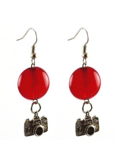 Náušnice s filigránů 22bm002-20 - červené s figurkami