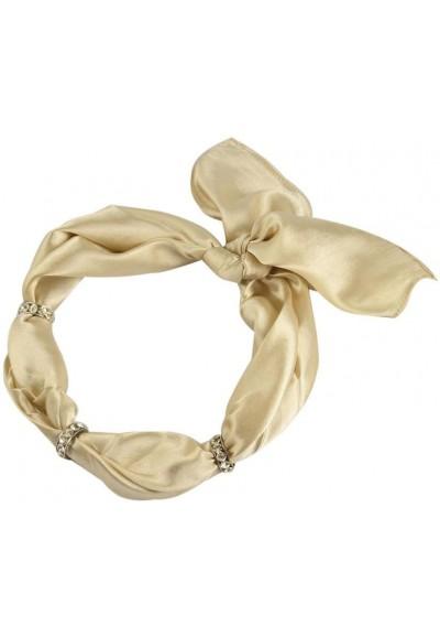 Šátek s bižuterií Sofia 245sof001-14 - béžový