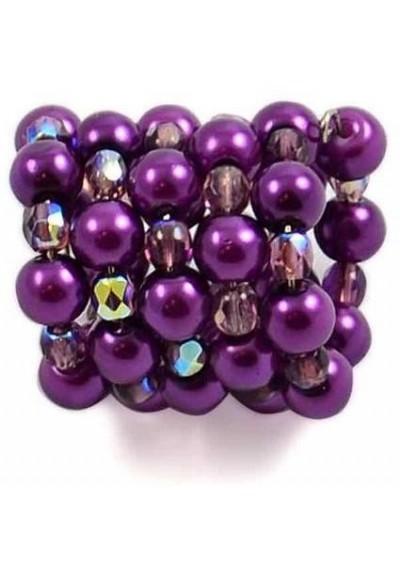 Spona na šátek 100sp33 - fialová