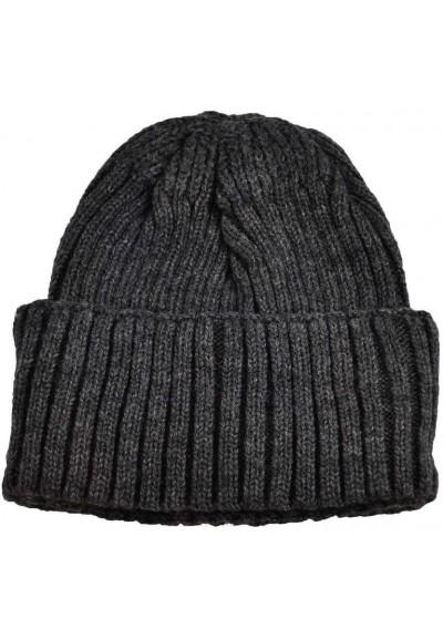Pletená panská čepice - šedá
