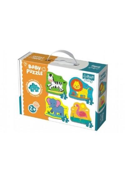 Puzzle baby Safari 4ks v krabici 27x19x6cm 2+