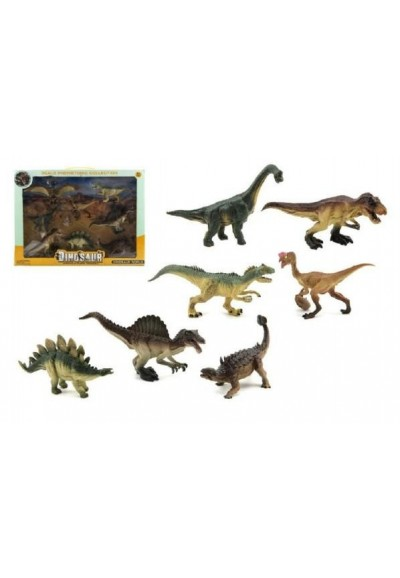 Dinosaurus plast 8ks v krabici 46x34x7cm