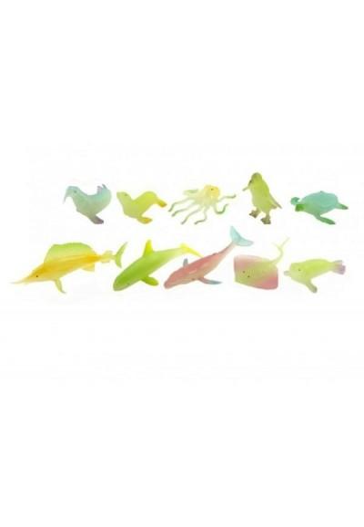 Zvířátka mořská svítící plast 6cm asst mix druhů v boxu