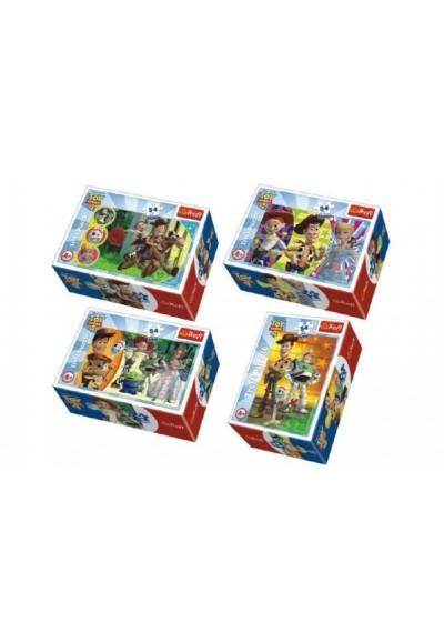 Minipuzzle Toy Story 4 54 dílků asst 4 druhy v krabičce 6x9x4cm 40ks v boxu