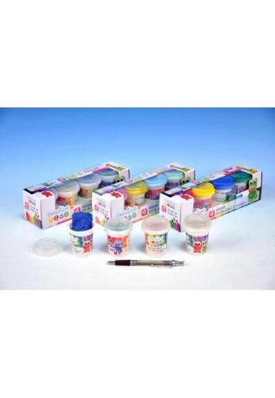 Modelína/Plastelína 4ks asst 4 druhy v krabici 23x6,5x6cm