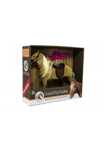 Kůň velký s doplňky fliška 38cm v krabici 40x35x12cm