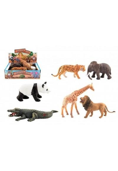 Zvířátko safari ZOO plast 11-17cm 6ks v boxu
