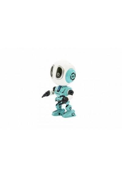 Robot kov/plast 12cm na baterie se světlem se zvukem 3 barvy 12ks v boxu