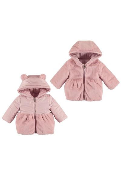 Mayoral - divčí oboustranná růžová zimní bunda