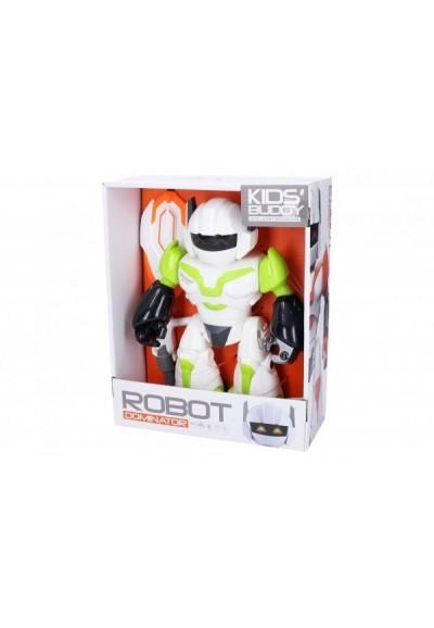 Robot kloubový s efekty plast 22 cm na baterie se světlem se zvukem 2 barvy v krabici 20x24x9cm