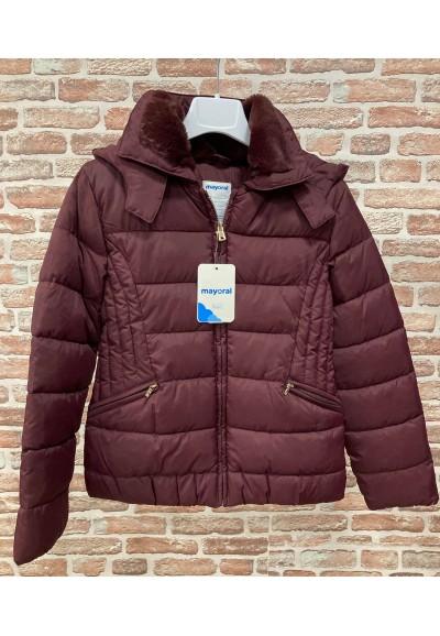 Mayoral - divčí bordo zimní bunda