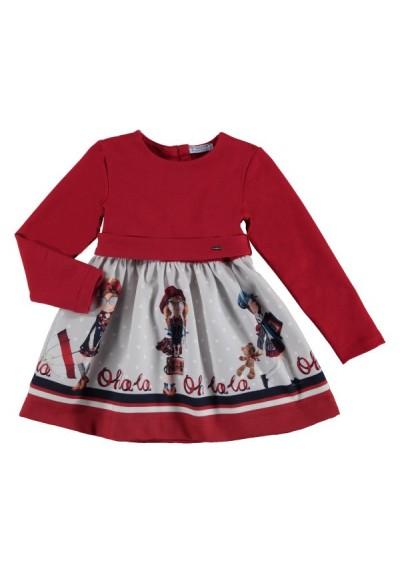 Mayoral - dívčí červené šaty
