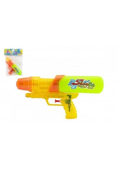 Vodní pistole plast 24 cm 2 barvy v sáčku