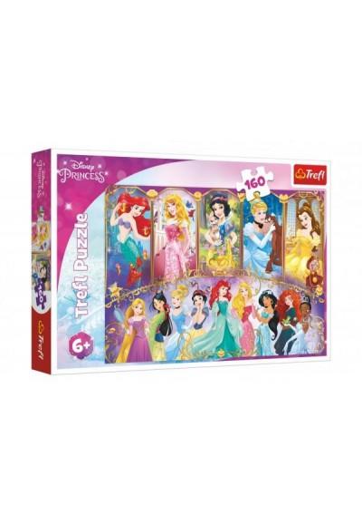 Puzzle Portréty princezen Disney 41x27,5cm 160 dílků v krabici 29x19x4cm