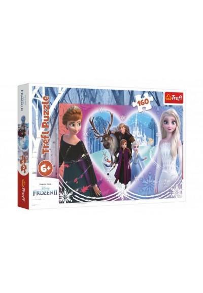 Puzzle Ledové království II/Frozen II Šťastné chvíle 41x27,5cm 160 dílků v krabici 29x19x4cm
