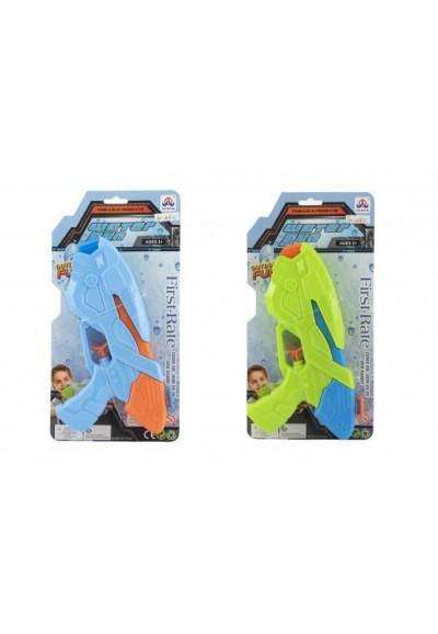 Vodní pistole plast 25cm 2 barvy na kartě