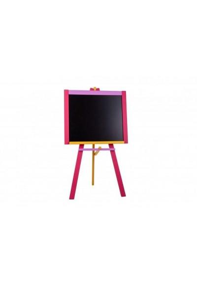 Tabule stojanová růžová sololit dřevěná  100x56cm v krabici 57x101x6,5cm