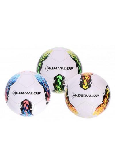 Míč fotbalový Dunlop nafouknutý 20cm 3 barvy vel. 5 v sáčku