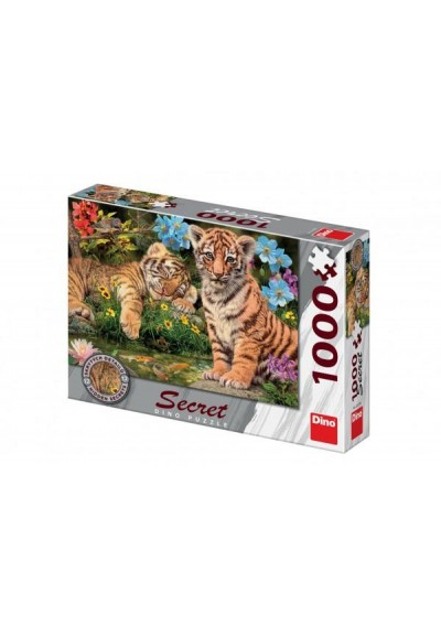 Puzzle Tygřici 12 skrytých detailů 1000 dílků 66x47cm v krabici 32x23x7,5cm
